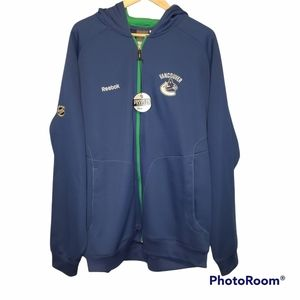 NHL Reebok Vancouver Canucks Blue Green Jacket XL
